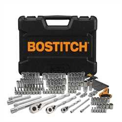 Bostitch - 174 pc Socket Set 14 in 38 in  12 in - BTMT72262