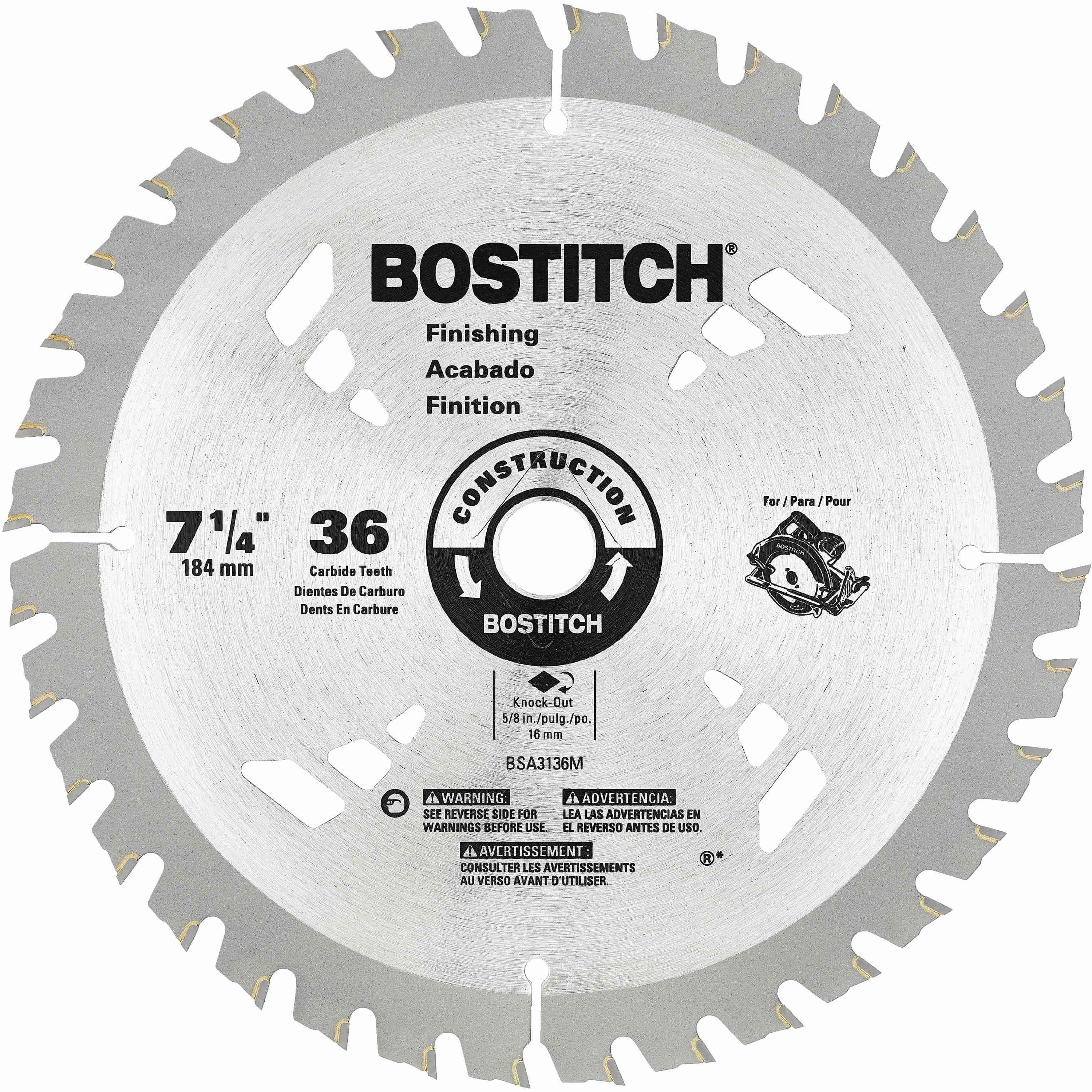 Bostitch - 7 14 36T Circular Saw Blade - BSA3136M