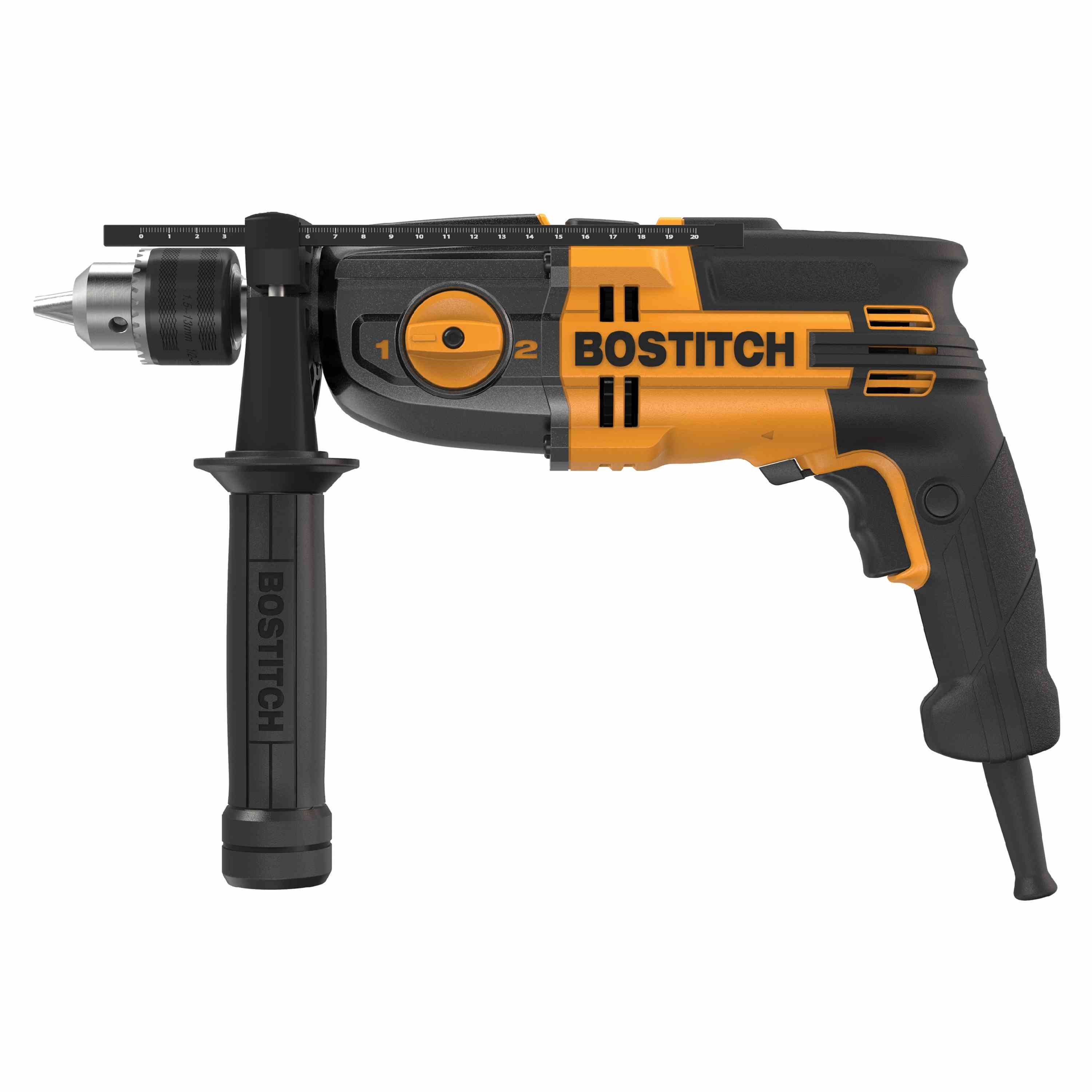 Bostitch - 7 Amp 12 VSR 2 Speed Hammer Drill Kit - BTE140K